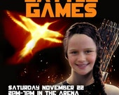 Battle Games (Hunger Games-ish) Party Printable Invitation (Hunger Games-ish)  - with Photo