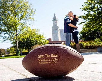 Wedding Engagement Photo Prop Sign, Save the Date Football, Couples Wedding Announcement, Engagement Photos, Couples Football, Wedding Date