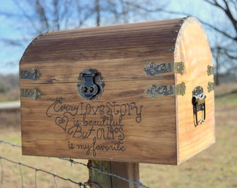 Rustic card chest   Etsy