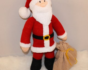 Knitted Father Christmas Pattern Free : Santa claus Etsy