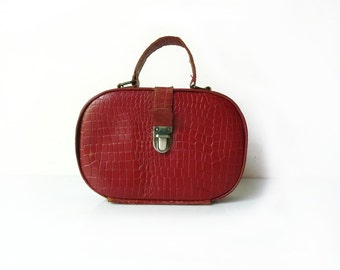 Leather Pocket Red Leather Pouch Purse 1950s