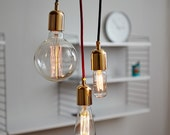 Hanging Lamp Industrial Gold