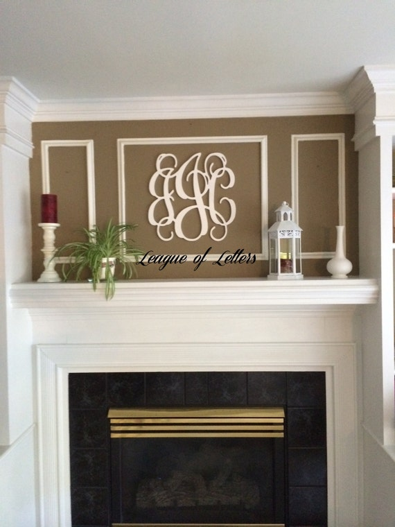 Holiday SALE 18 inch Wooden Monogram Letters Vine Font Dorm Room Decor