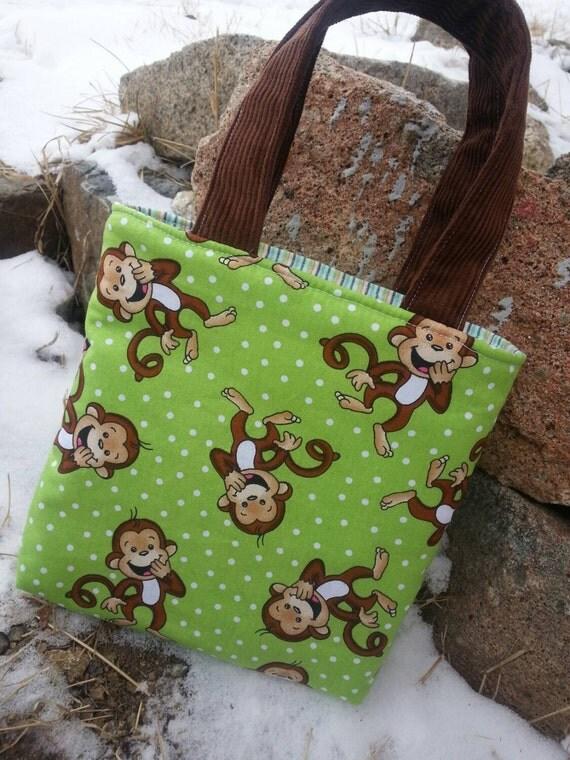 Toddler Monkey Tote Bag,