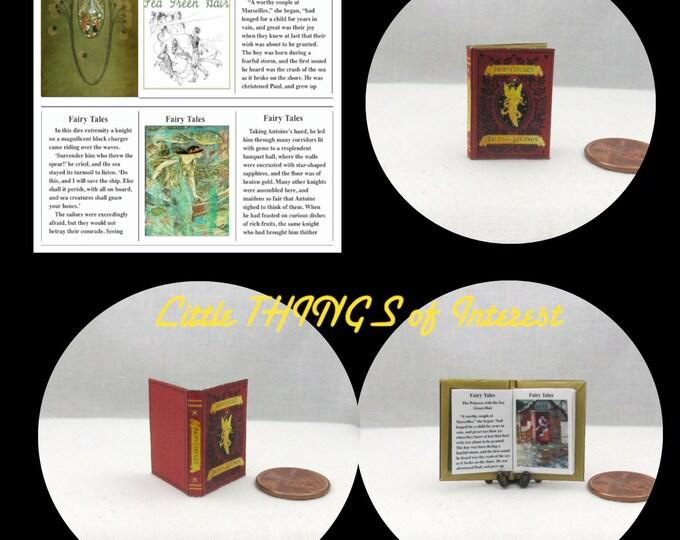 Dollhouse Doll FAIRY TALES Miniature Book Dollhouse 1:12 scale Readable Illustrated Book