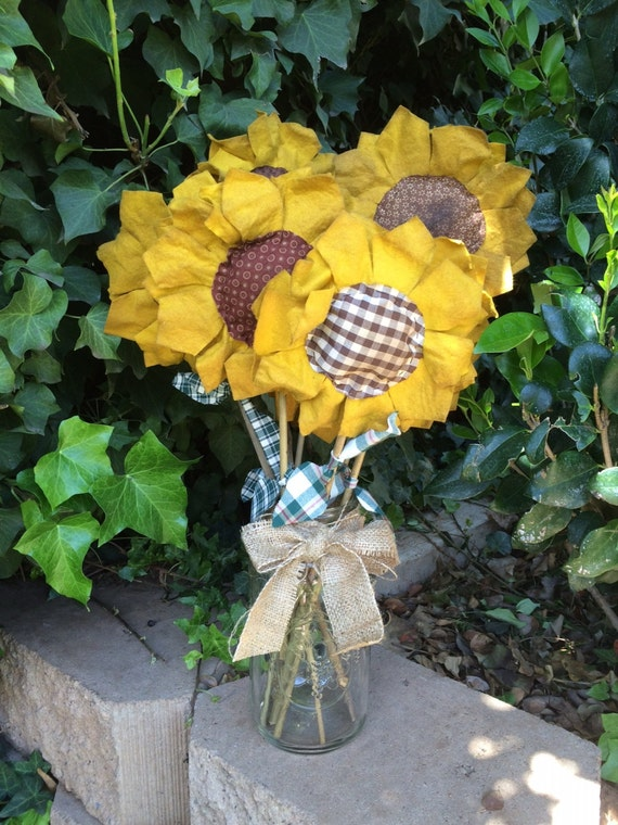 Primitive Sunflower Stems