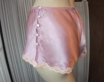 Vintage Style French Knickers Tap Pants with Side Button Fastening