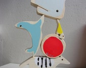 Circus Animals Act XL stacking wooden toy - New design!