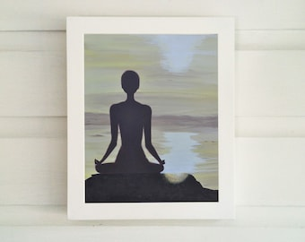 Meditation Art - Meditation Print - Meditation Wall Decor - Minimalist Wall Decor - Meditation Art Print