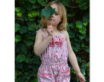Girls romper pattern Peachy Dress & Playsuit sewing pattern, girls dress romper playsuit pdf sewing pattern sizes 2-14 yrs 6 patterns in one