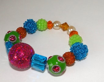 Bright Fun - Ceramic and Acrylic Beaded Bracelet - Free Shipping