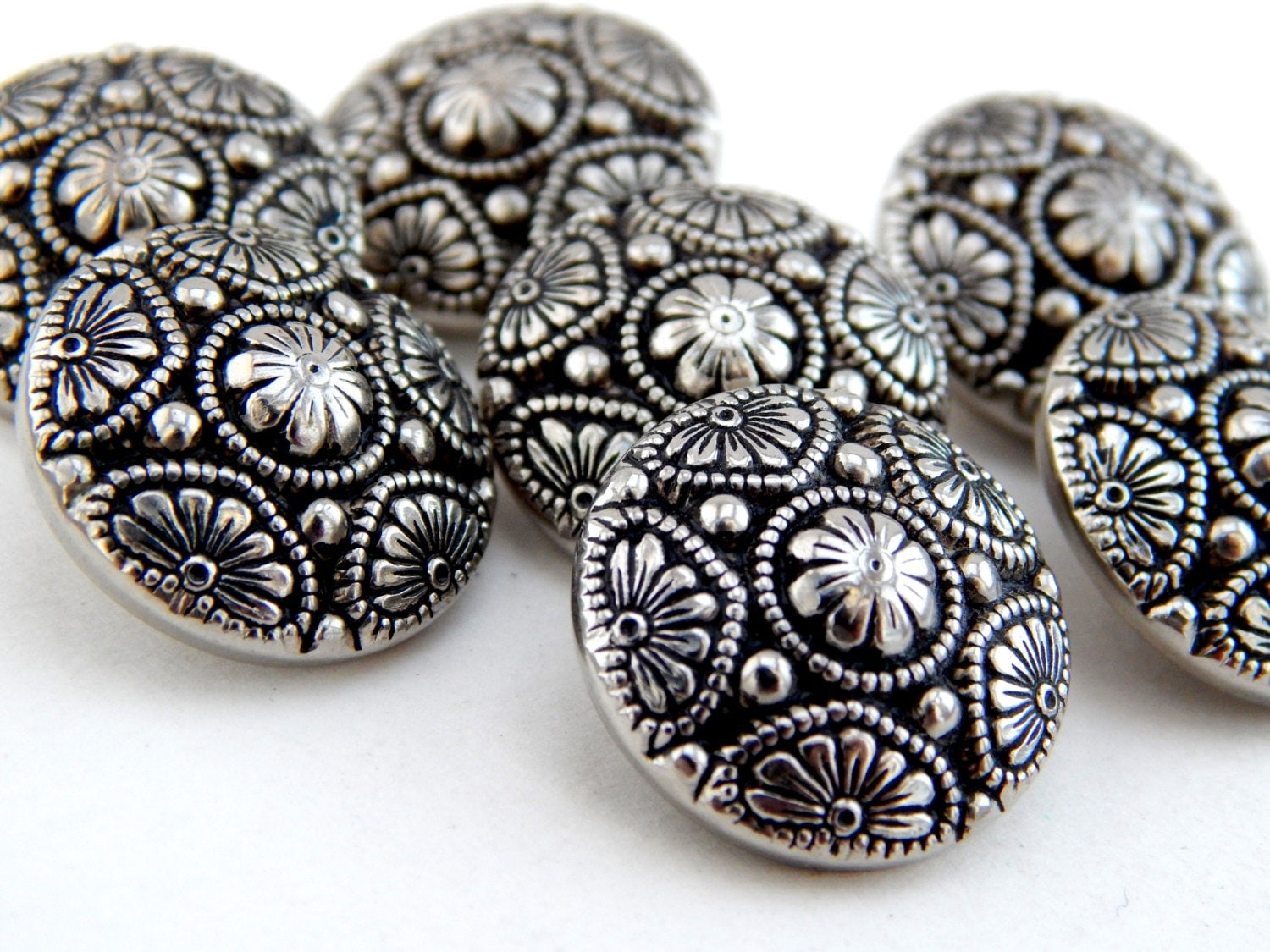 Vintage Silver Buttons 16