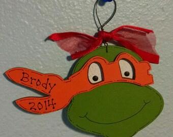Michaelangelo Orange Ninja Turtle Christmas Ornament