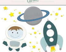 Outer Space Digital Clipart Set Outer Space Graphics ...