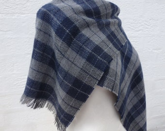 Scarf check accessory 80s mens scarf womens college scarf winter accessories ladies small scarf fall accessory acrylic wool plaid scarf  80s
