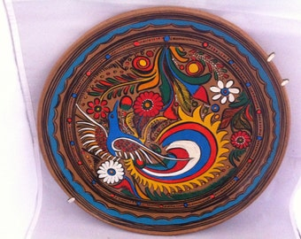 Retro Vintage Hand Painted Plate Wall Hanger