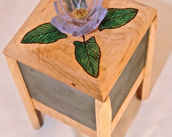 Cast Glass Water Lily Box- OOAK