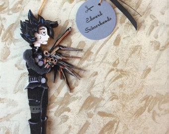 Tim Burton's Edward Scissorhands Johnny Depp Character Ornament Gift and Decoration for Halloween