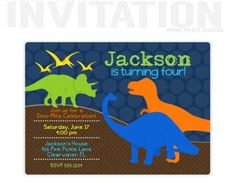 Dinosaur Invitation, Dinosaur Birthday Invitation, Dinosaur Party, Dinosaur Birthday, Dinosaur Printable, Dinosaur Party Invitation | 416