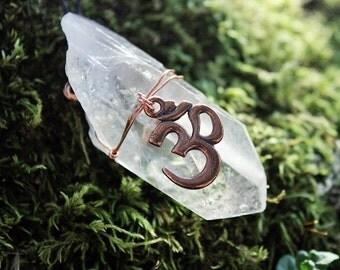 copper ohm quartz necklaces