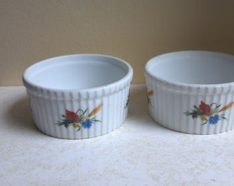 Two (2) Cordon Bleu Ramekins Custard Cups - Made in France - Appetizers