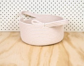 Storage Tub // Cotton Rope // SHALLOW Small // Custom Colour // Handmade Home wares, Clutter Catcher, Kids Room, Organiser, Clothes
