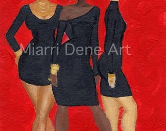 African American women, black art, african american art print by Miarri Dene