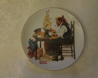 Vintage Beloved Classics, Norman Rockwell plate For a Good boy