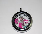 Sisters on the Fly Vintage Camper Floating Locket Set Complete with 6 Charms