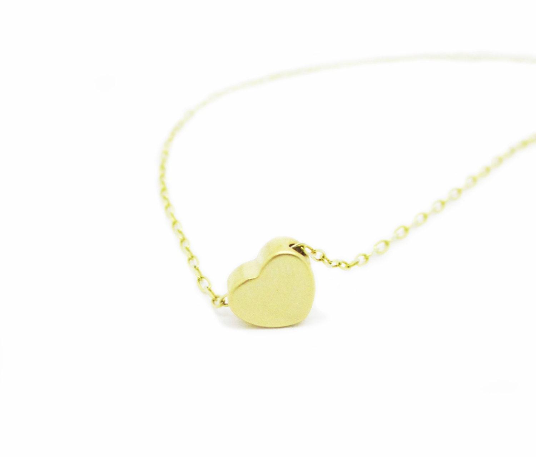sale gold necklace tiny gold pendant 14k gold