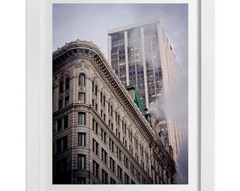 New York Print, Smoke Over Midtown, NYC Art, Urban Wall Art, New York Photography, Architecture Art, Large Wall Art, Manhattan Print