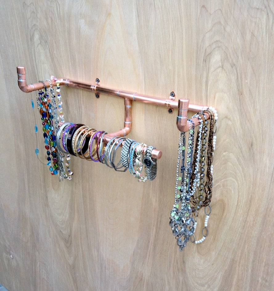 Industrial Jewelry Organizer Wall Mounted Necklace Holder