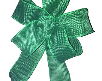Irish Green burlap look bow rustic country Irish wedding gift package bows decor Irish St Patricks Day