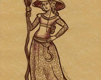 Medieval Witch (Original ink)