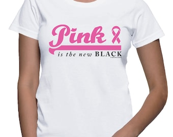 XXL - Pink is the new Black - Breast Cancer T-shirt