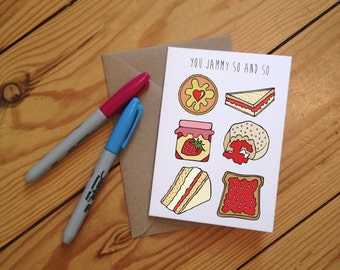 You Jammy So and So - illustrated Jam Greetings Card