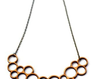 double bubble necklace - natural