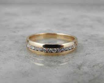 Classic Channel Set Diamond Band in Yellow Gold RFKU2R-D