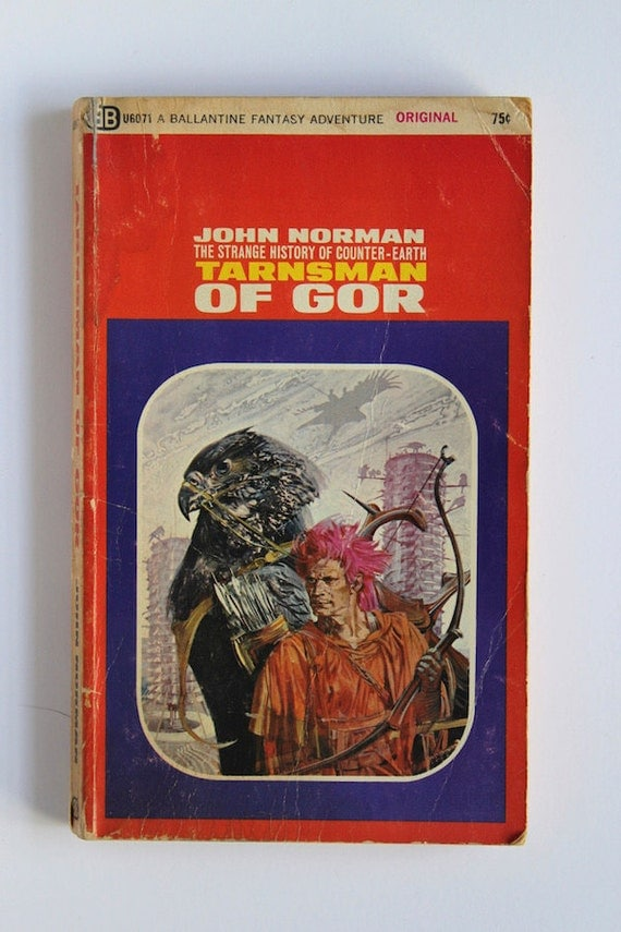 Gor Book Cover Art : Tarnsman of gor by john norman s vintage paperback first
