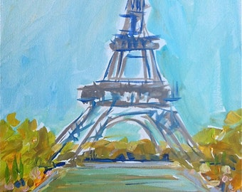 Paris, Eiffel Tower Print, Eiffel Tower Art, French, print of watercolor