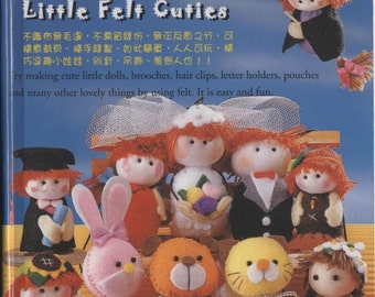 English Language Little felt cuties Toys Sewing of felt PDF Pattern Japanes eBook