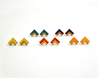 Chevron Colored Studs