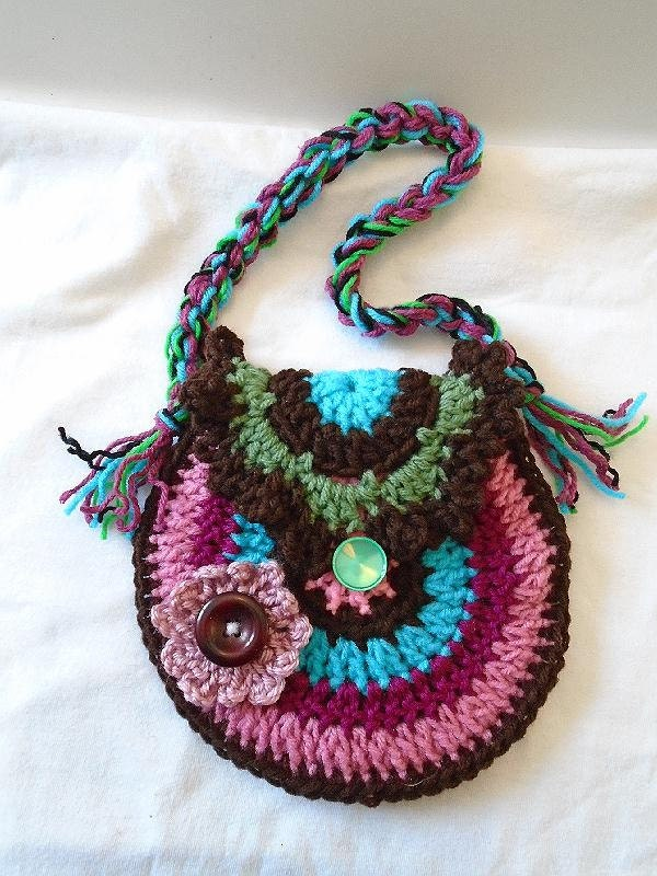 CROCHET Purse PATTERN Rainbow Purse or Handbag Tote