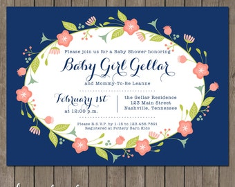 Printable Baby Shower Invitation - the Leanne Collection