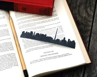 Dublin, Ireland - Hand-cut Silhouette Bookmark, Ireland Bookmark, Dublin Skyline, Travel Bookmark