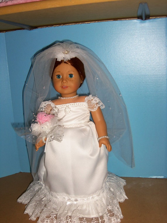 American girl 18 inch doll wedding dress for American girl wedding dress