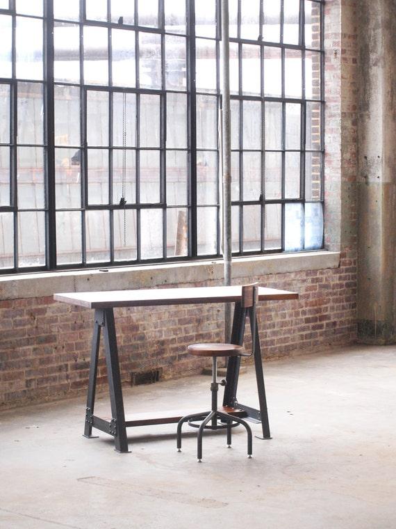 walnut stand up sit down work station desk. Black Bedroom Furniture Sets. Home Design Ideas