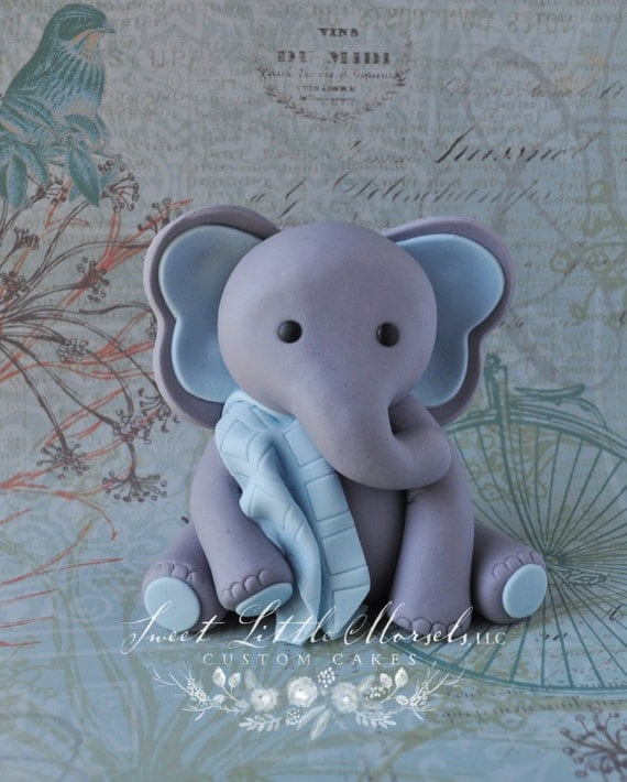 Plastic Elephant Cake Toppers
