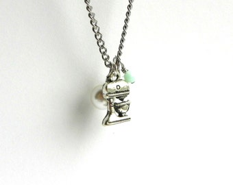 Pastry Chef Necklace - Silver Charm Necklace