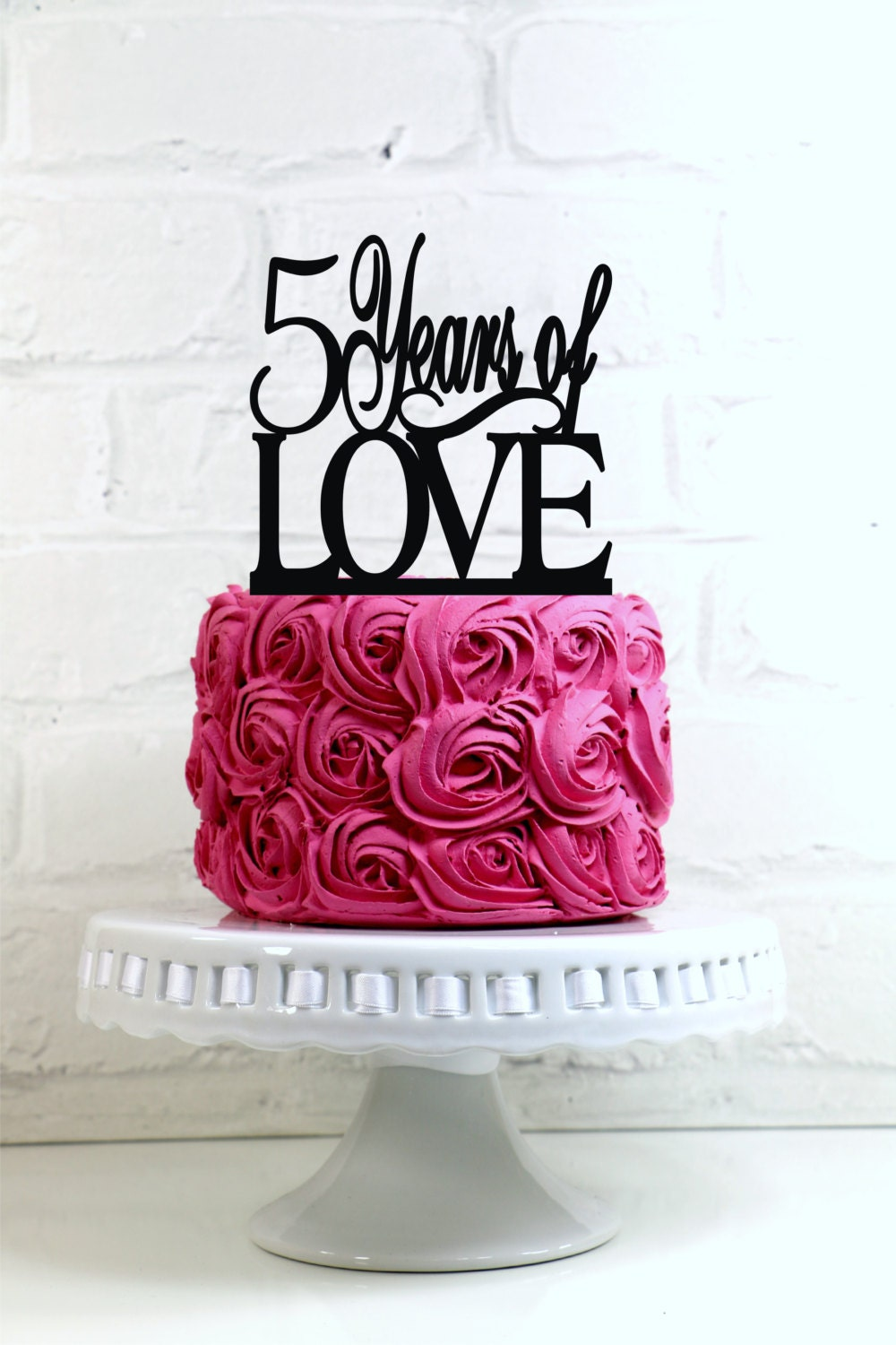 Years of love th anniversary or birthday cake topper